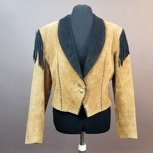Western Suede Fringed Bolero Jacket